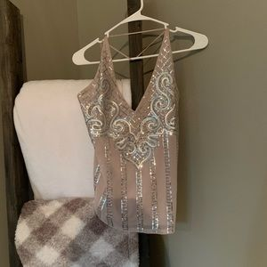 EXPRESS sequin low back tank